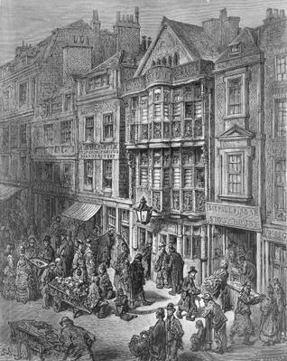 Bishopsgate Street, from 'London, a Pilgrimage', written by William Blanchard Jerrold
