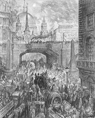 Ludgate Hill, from 'London, a Pilgrimage', written by William Blanchard Jerrold