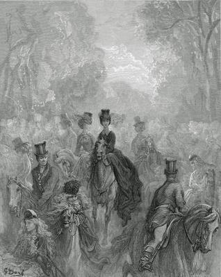 The Ladies' Mile, from 'London, a Pilgrimage', written by William Blanchard Jerrold