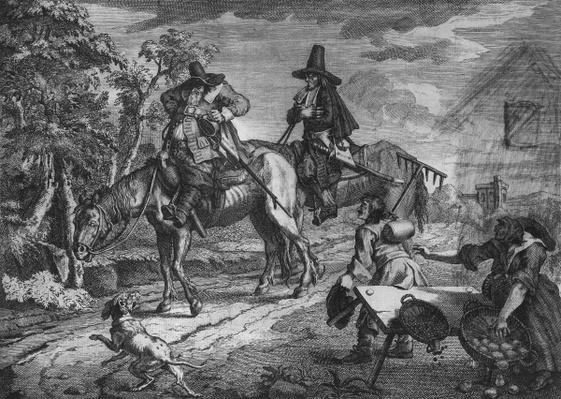 Hudibras Sallies Forth, Plate II, from 'Hudibras' by Samuel Butler, 1726