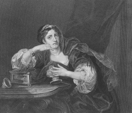 Sigismonda with the Heart of her Husband, engraved by T.W. Shaw, from 'The Works of Hogarth', published 1833
