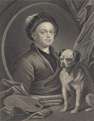 Self Portrait, engraved by J. Mollison
