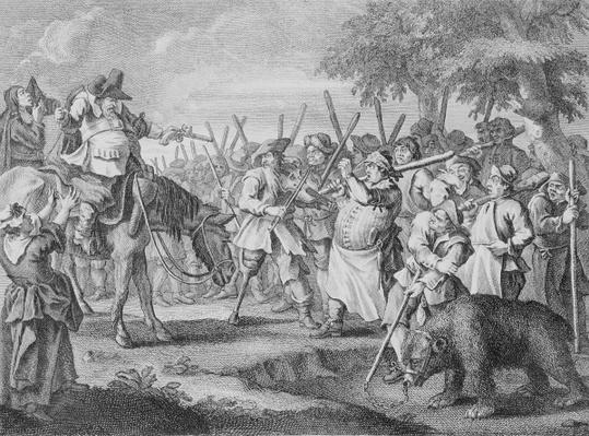 Hudibras' First Adventure, from 'Hudibras' by Samuel Butler, 1726