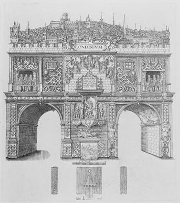 A Triumphal Arch, engraved by William Kip, 1604