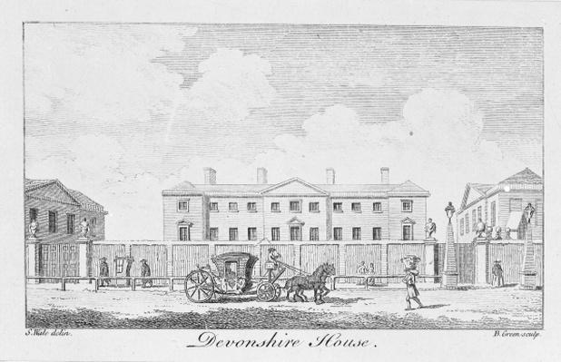 Devonshire House, engraved by Benjamin Green, 1761