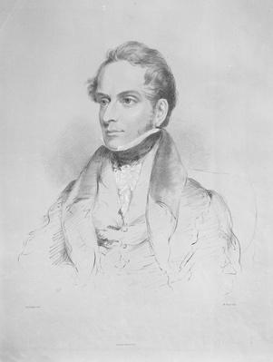 Decimus Burton, lithograph by Maxim Gauci, c.1830-35