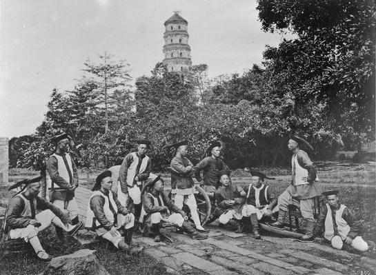 The Native Guard of Sir D.B Robertson, British Consulat, Canton, 1872