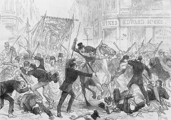 Irish Home Rule Riots in Glasgow, c.1880s