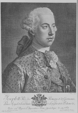 Joseph II, Holy Roman Emperor, engraved by Anton Tischler