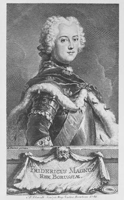 Friedrich II, King of Prussia, engraved by Georg Friedrich Schmidt, 1746