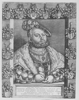 Johann Friedrich I, Elector and Duke of Saxony, 1543