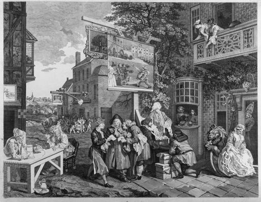 The Election II: Canvassing for Votes, engraved by Charles Grignion