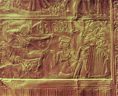 Detail from the Golden shrine, Tutankhamun's Treasure