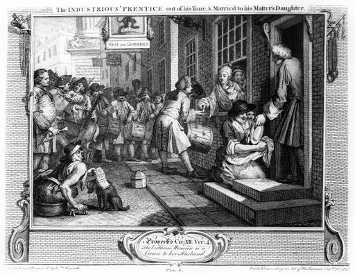 The Industrious 'Prentice out of his Time and Married to his Master's Daughter, plate VI of 'Industry and Idleness', 1747