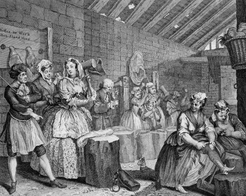 A Harlot's Progress, plate IV, Scene in Bridewell