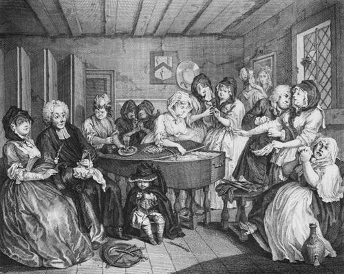 A Harlot's Progress, plate VI, The Funeral