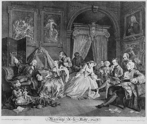 Marriage a la Mode, Plate IV, The Toilette, 1745