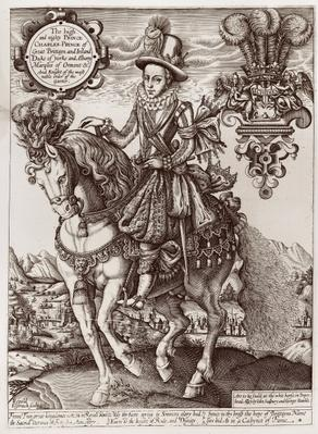 Charles I as Prince of Wales on Horseback, from 'The Book of Kings', 1618