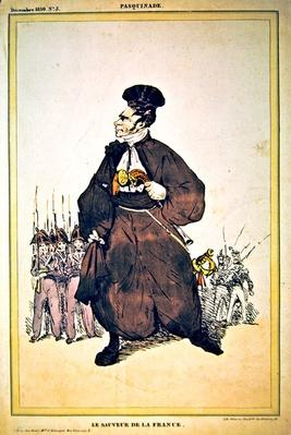 Caricature of Baron Pasquier as 'Saviour of France', 1830
