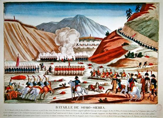 Battle of Somosierra on 30 November 1808
