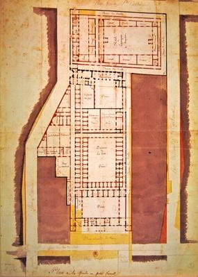 Plan of the Grande and Petite Force prison, rue du Roi de Sicile, Paris
