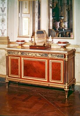 Louis XVI style commode from the bedroom of the empress
