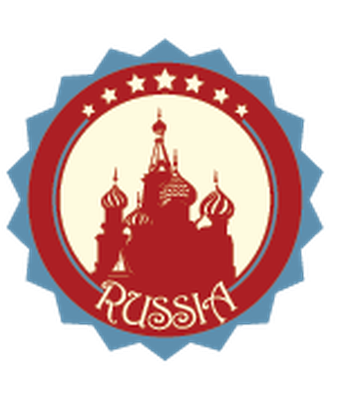 Travel Labels or Badges - Russia | Clipart