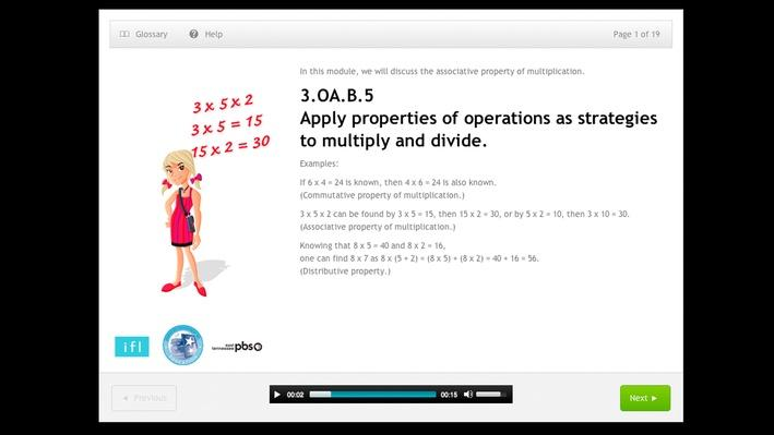 Apply properties of operations as strategies to multiply and divide - 3.OA.B.5