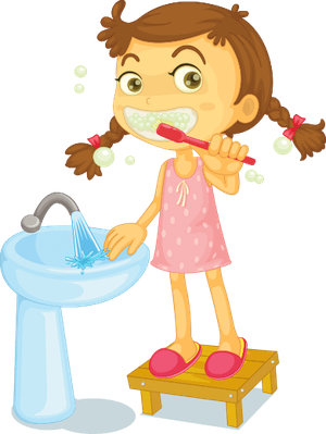 Girl brushing teeth | Health and Nutrition