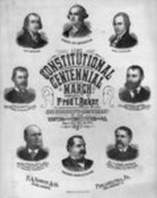 Constitutional Centennial March, 1887