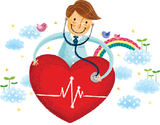 Doctor Listening Heartbeats | Clipart