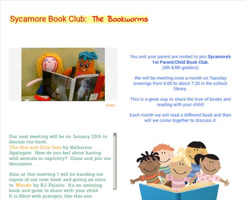 Sycamore Book Club:  The Bookworms