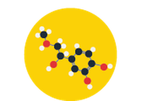 Science Icons - Yellow and Blue - Molecule | Clipart