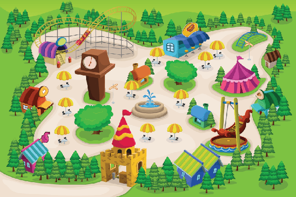 Amusement Park Map | Clipart