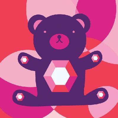 Diamond Bear Character | Clipart