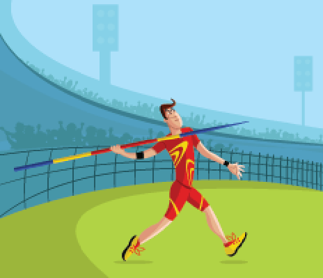 Javelin Player | Clipart