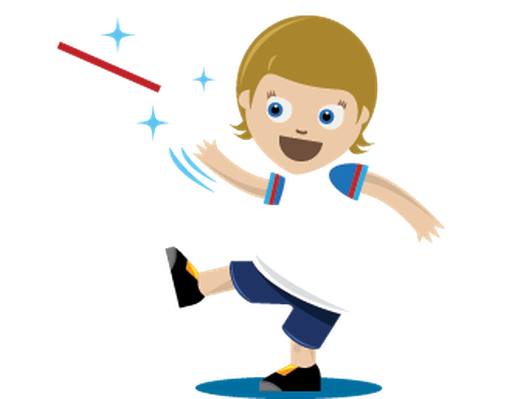 Children Playing Sports - Relay Race, Girl | Clipart