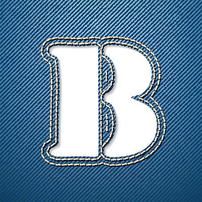 Denim Jeans: Letter B | Clipart