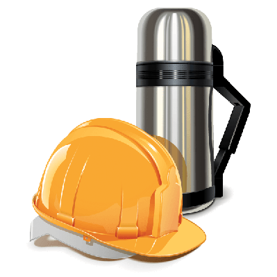 Thermos With Helmet | Clipart