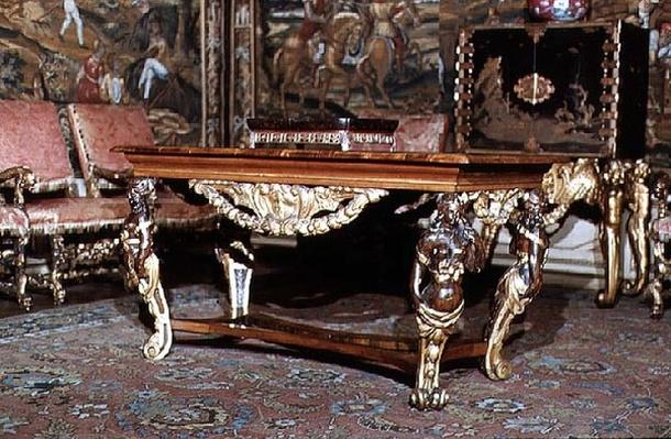 Table with elaborately carved legs, c.1675
