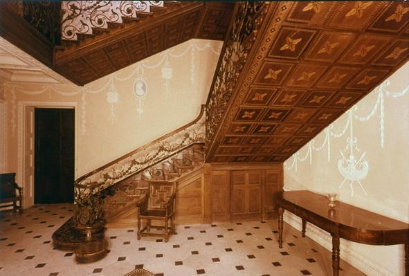 The staircase, Claydon House, Buckinghamshire, mid-18th century