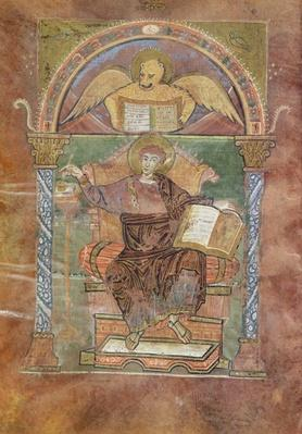Ms 4 fol.66v St. Mark, from the Gospel of St. Riquier, c.800