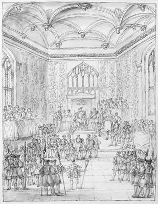 Henry VIII receiving Montmorency, the French Ambassador, at Hampton Court