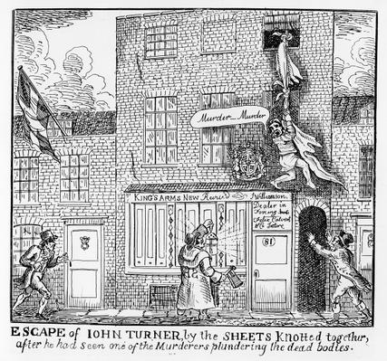 Escape of John Turner, part of the story of the Ratcliff Highway Murders from 1811