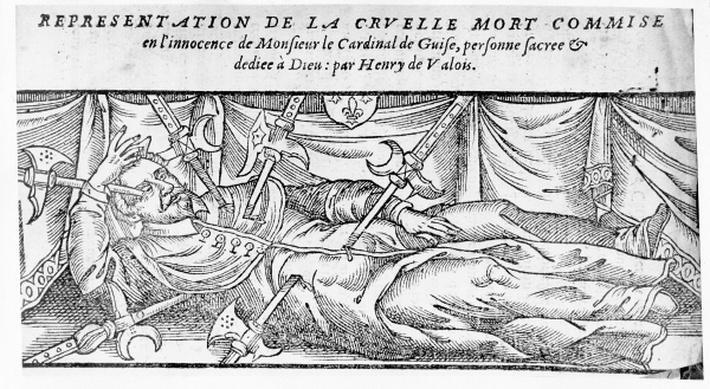 The Murder of Cardinal Guise, from 'La Vie et Les Faites Notables de Henri de Valois', 1589
