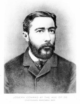 Joseph Conrad at the age of 26, engraved after a photograph from 1883