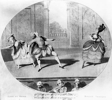 A scene from the ballet 'Jason et Medee', 1781