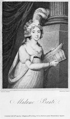 Madame Banti, engraved by J. Singleton, 1797