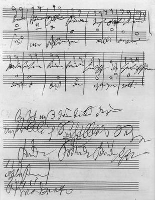 Handwritten musical score