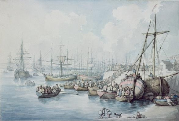 The Disembarkation of the Royalists of Toulon at Southampton in 1794
